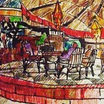 @instagram: Lovely India #anjuna#germanbakery #byrazbrod#sketches#drawing